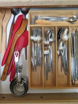 Flatware, measuring cups, Wooden Spoons, Spatulas